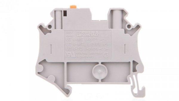 Złączka przelotowa 2-przewodowa z odłącznikiem nożowym 0,14-6mm2 szara UT 4-MT-P/P 3046171