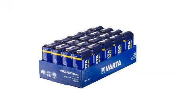 Bateria alkaliczna 6LR61 / R9 9V INDUSTRIAL /tacka 20szt./