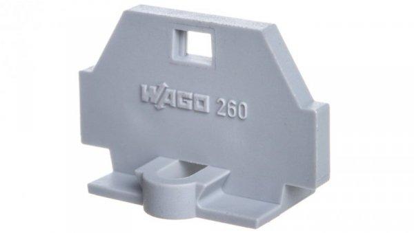 Ścianka końcowa z mocowaniem śrubowym szara 260-361 /50szt./