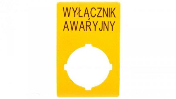 Szyld do przycisków awaryjnych PL M22-XZK-PL99 167637
