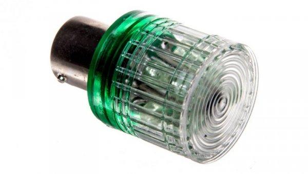 Dioda LED Ba15s 220V AC zielona do kolumn sygnalizacyjnych T0-IKML220Y