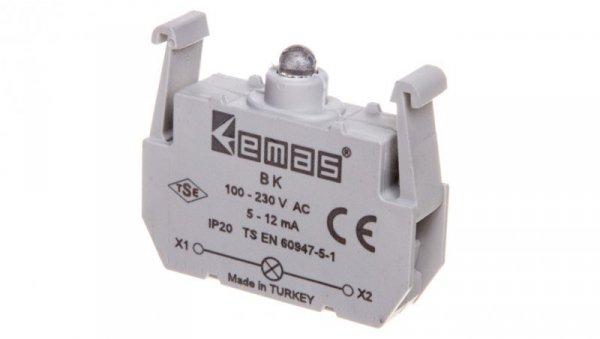 Oprawka z LED czerwona 100-230V AC/DC T0-BK