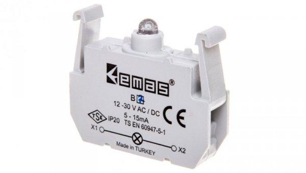 Element podświetlający niebieska 12-30V AC/DC do przycisków B LED T0-B7