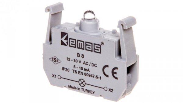 Element podświetlający żółty 12-30V AC/DC do przycisków B LED T0-B8