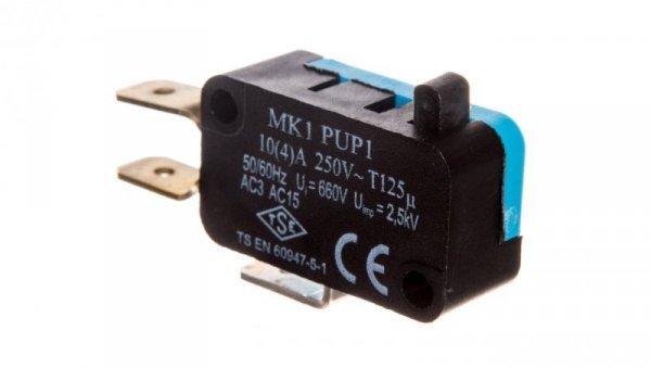 Wyłącznik krańcowy miniaturowy 1CO popychacz z tworzywa T0-MK1PUP1