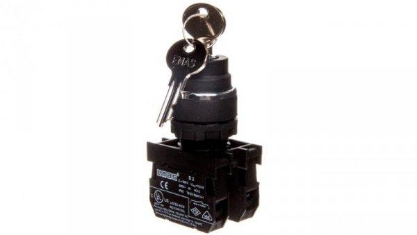 Przycisk sterowniczy 1Z 0R z kluczem bez samopowrotu 2-0-1 T0-B102A30