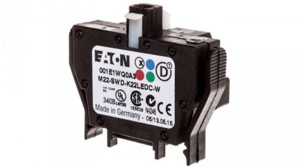 Styk pomocniczy 2P z diodą LED białą montaż czołowy SmartWire-DT 116009