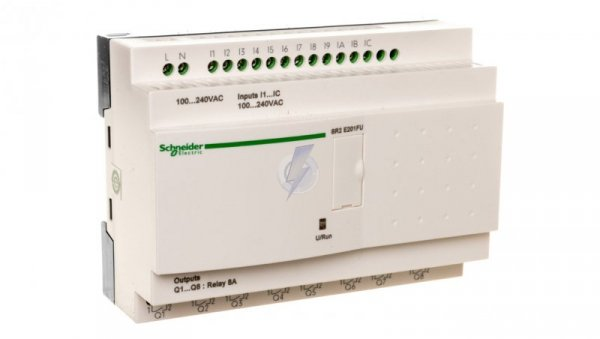 Sterownik programowalny 12 wejść8 wyjść 100-240V AC RTC/LCD Zelio SR2E201FU