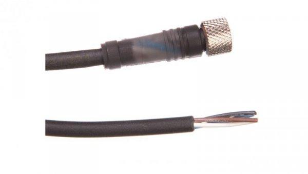 Złącze żeńskie M8 proste 4-pinowe kabel 5m PUR XZCP0941L5