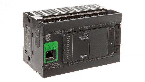 Sterownik programowalny 24 I/O przekaźnikowych Ethernet/CANopenModicon M241-24I/O TM241CEC24R
