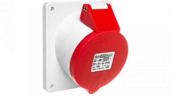 Gniazdo tablicowe 32A 5P 400V 6h IP44 skośne Quick-Connect 12801