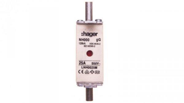 Wkładka  bezpiecznikowa NH000 25A 500V gG LNH0025M
