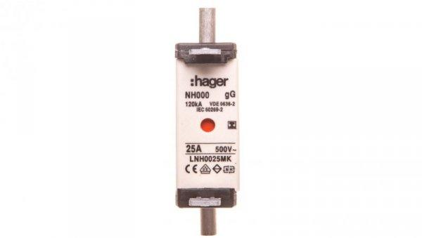 Wkładka bezpiecznikowa NH000 25A gG 500V WT-000 LNH0025MK