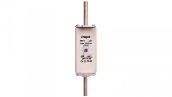 Wkładka bezpiecznikowa NH1C 63A 500V gG LNH1063M