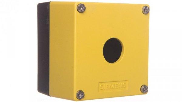 Obudowa kasety 1-otworowa 22mm czarno-żółta M20 IP69k Sirius ACT 3SU1801-0AA00-0AA2