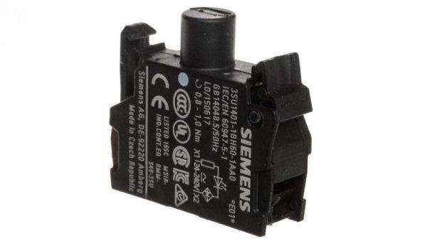 Oprawka z LED biała 24-230V AC/DC montaż czołowy Sirius ACT 3SU1401-1BH60-1AA0