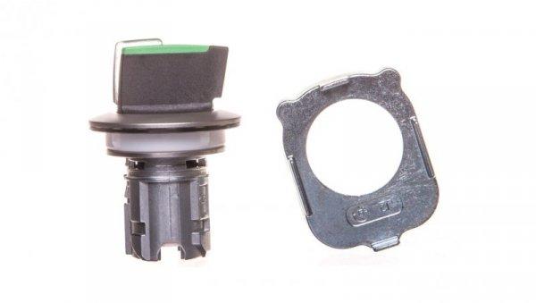 Napęd przełącznika 3 położeniowy I-O-II 30mm zielony podświetlany z samopowrotu metal mat IP69k Sirius ACT 3SU1062-2DM40-0AA0
