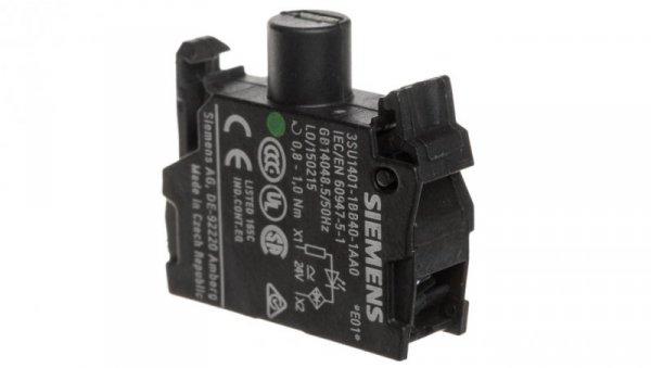 Oprawka z LED zielona 24V AC/DC montaż czołowy Sirius ACT 3SU1401-1BB40-1AA0