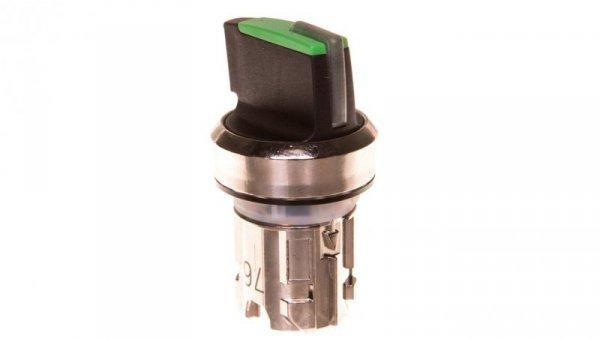 Napęd przełącznika 3 położeniowy I-O-II 22mm zielony z podświetleniem bez samopowrotu metal mat IP69k Sirius ACT 3SU1052-2BL40