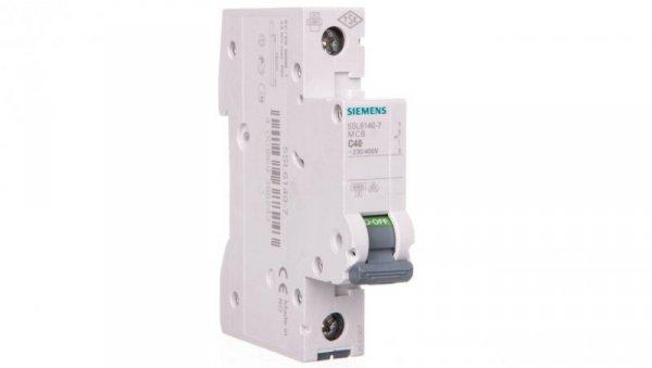 Wyłącznik nadprądowy 1P C 40A 6kA AC 5SL6140-7