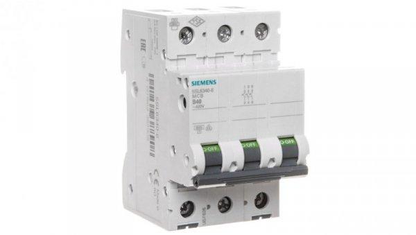 Wyłącznik nadprądowy 3P B 40A 6kA AC 5SL6340-6