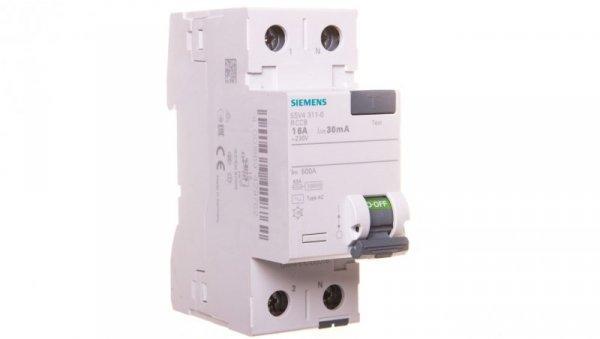 Wyłącznik różnicowoprądowy 2P 16A 0,03A typ AC 5SV4311-0
