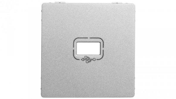 VALENA LIFE Plakietka gniazda USB aluminium 754752