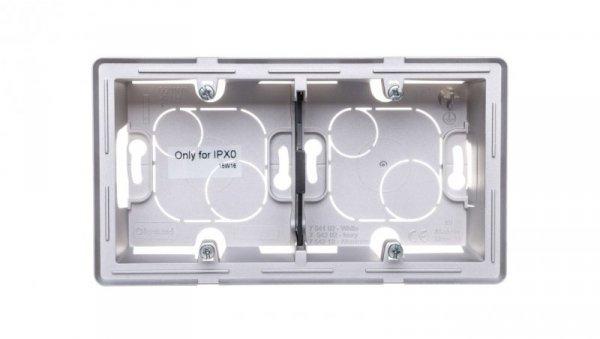VALENA LIFE Puszka natynkowa podwójna aluminium 754212
