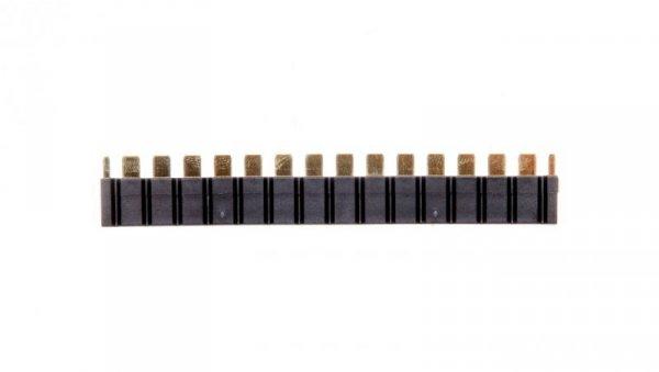Mostek grzebieniowy do łączenia zacisków A1/A2 max.16 gniazd czarny 093.16.0000000