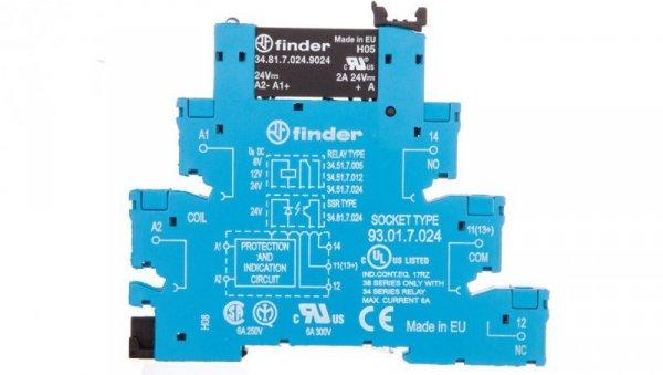 Przekaźnikowy moduł sprzęgający półprzewodnikowy 2A 24V DC 6,2mm 38.81.7.024.9024