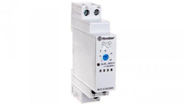 Przekaźnik czasowy 1P 16A 24-240V AC/DC 0,1s-24h 250V jednofunkcyjny DI 80.21.0.240.0000