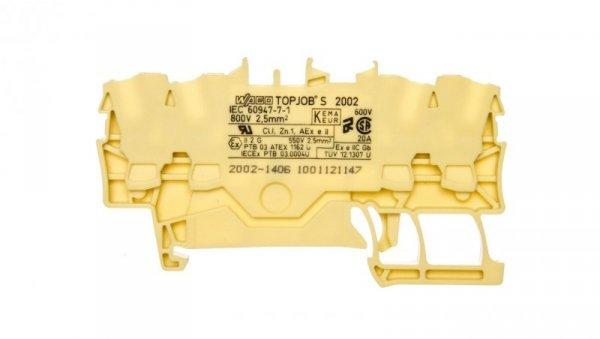 Złączka 4-przewodowa 2,5mm2 żółta TOPJOBS 2002-1406