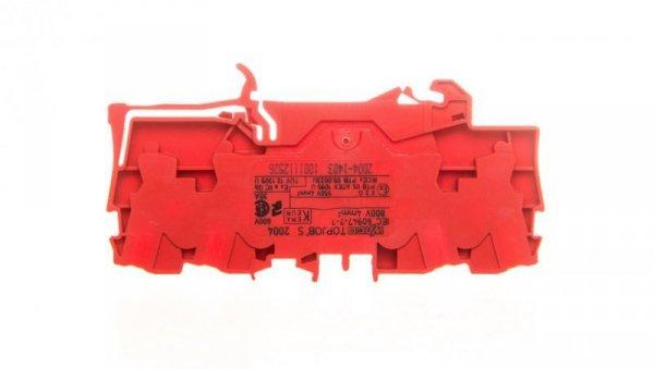 Złączka 4-przewodowa 4mm2 czerwona TOPJOBS 2004-1403