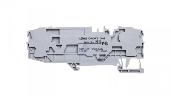 Złączka 2-przewodowa 6mm2 bezpiecznikowa szara TOPJOBS 2006-1681/1000-434