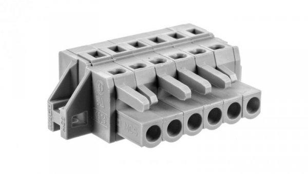 Gniazdo MCS-MIDI Classic 6-biegunowe szare raster 5mm 231-106/031-000