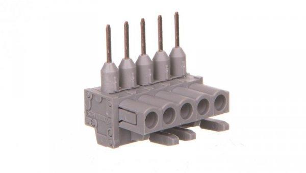 Gniazdo MCS-MIDI Classic kątowe 5-biegunowe szare raster 5mm 232-235/005-000  /100szt./