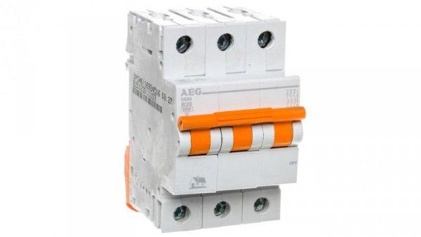 Wyłącznik nadprądowy 3P B 20A 6kA AC DE93B20 690820
