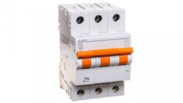 Wyłącznik nadprądowy 3P C 20A 6kA AC DE93C20 690827