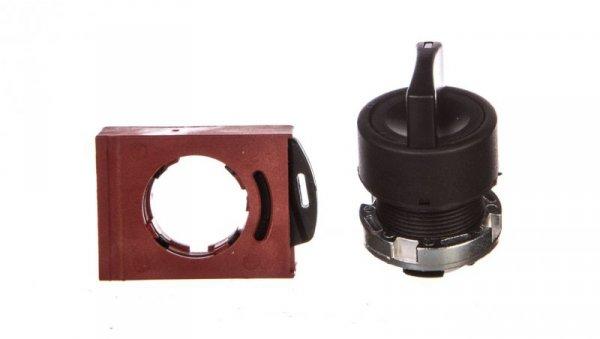 Łącznik pokrętny z ramką czarny 3 położenia /chwilowe-stabilne-chwilowe/ P9XSMZ3N 185320