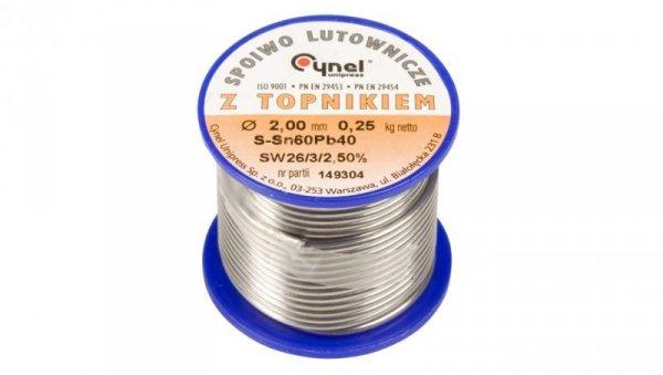 Drut do lutowania 2mm DW 2,00/TLR cyna E05ML-01010200801