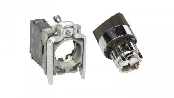 Przełącznik 2 położeniowy pokrętło 22mm czarny 1Z bez samopowrotu XB4BD21