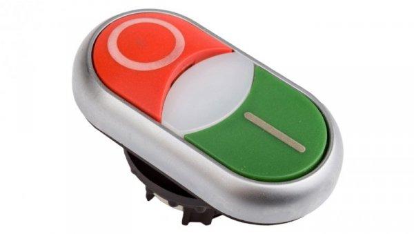 Napęd przycisku podwójny zielony/czerwony /O-I/ z podświetleniem z samopowrotem M22-DDLM-GR-X1/X0 284830