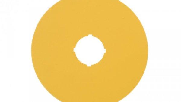 Tabliczka opisowa żółta okrągła fi90 bez nadruku M22-XAK 216464