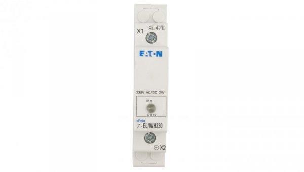 Lampka modułowa biała 110-240V AC/DC Z-EL/WH230 107494