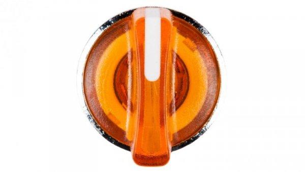 Napęd przełącznika 2 położeniowy żółty z podświetleniem bez samopowrotu ZB4BK1253