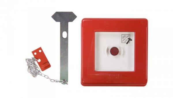 Przycisk ppoż. natynkowy 1Z 1R czerwony 42 RV GW42201