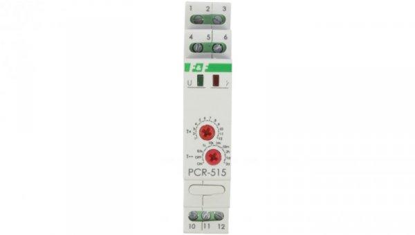 Przekaźnik czasowy 1P 10A 0,1sek-576h 230V AC, 24V AC/DC opóźnione załączenie PCR-515DUO