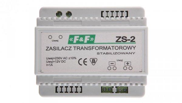 Zasilacz stabilizowany 230VAC/12VDC 12W 1A ZS-2