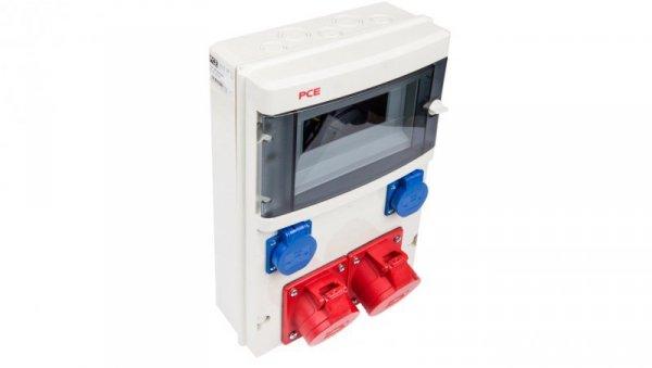 Rozdzielnica stacjonarna STAR 32A/5P 16A/5P 2xGS bez zabezpieczeń IP44 9016830W