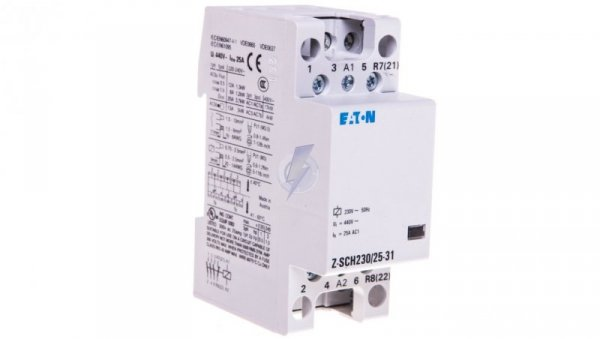 Stycznik modułowy 25A 3Z 1R 230V AC Z-SCH230/25-31 248846